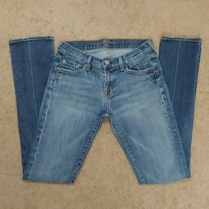 7 For All Mankind Roxy Straight Leg Jeans Sz 26